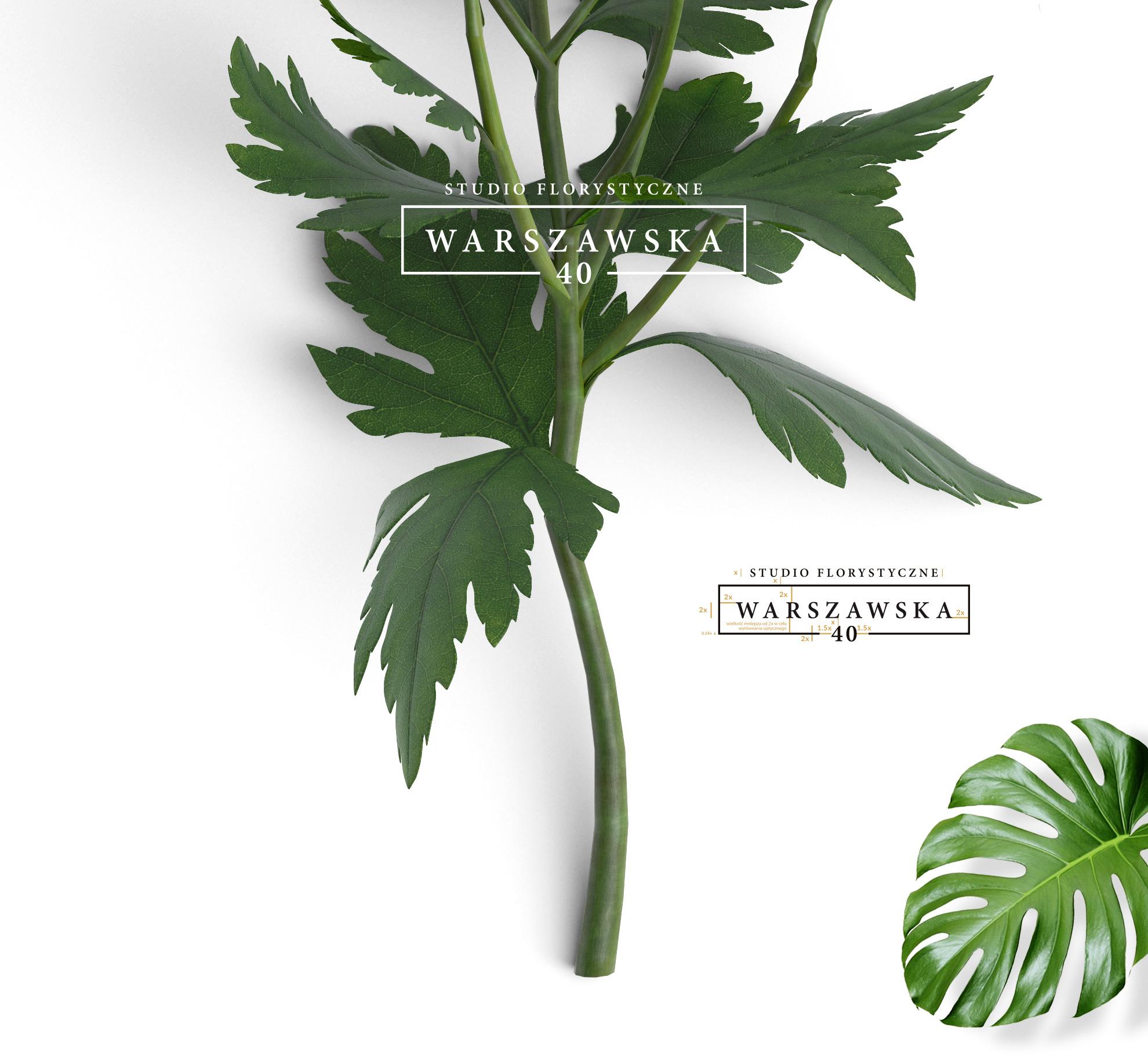branding Studio Florystyczne Warszawska 40, projekt logo - endure agency