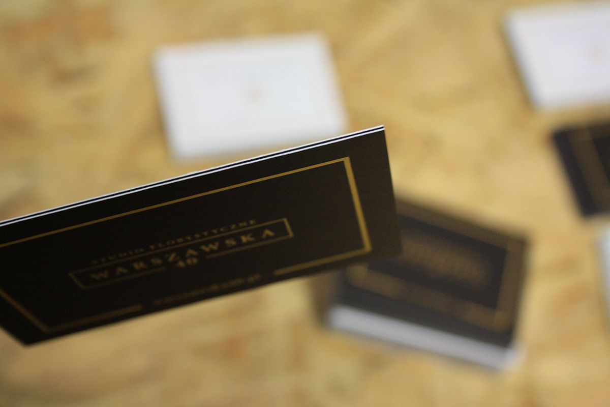 branding Studio Florystyczne Warszawska 40 - endure agency