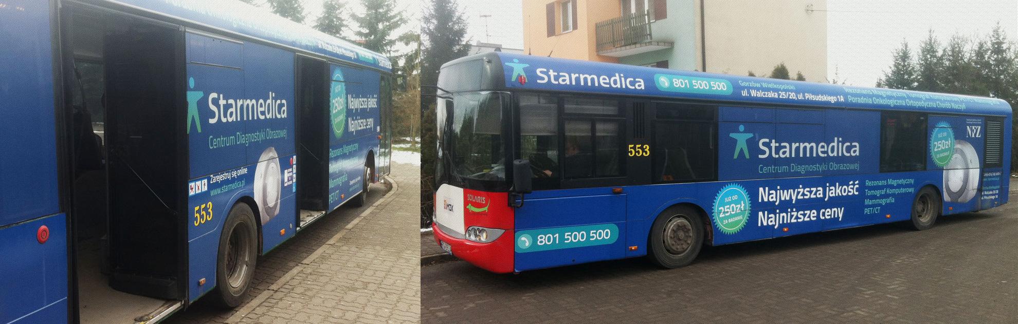 oklejanie pojazdów autobus mzk starmedica01